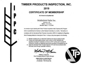 timber products inspection certificate of membership