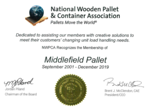 National Wooden Pallet & Container Association Certificate of Membership